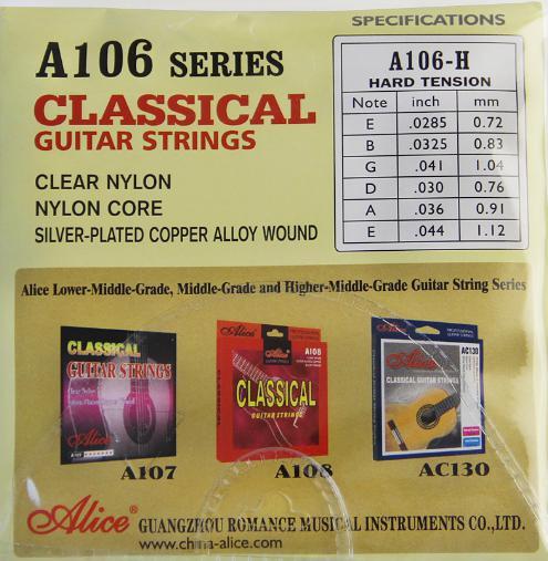 Najlon žice za klasičnu gitaru Alice